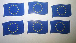 Бумажная вставка в ценникодержатель в виде флага евросоюза. 200шт.