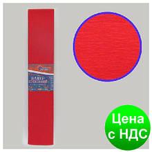 Бумага креповая 100% красная 50*200 см., 20г/м2