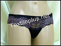 Трусики стринги Coeur joie черный-сиреневый 8907