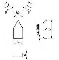 Пластина твердосплавная напайная 23110 Т5К10