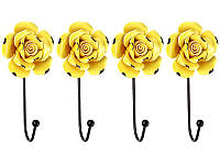 Набор крючков из 4 шт на стену Lefard Желтые Розы  8х6х16 см