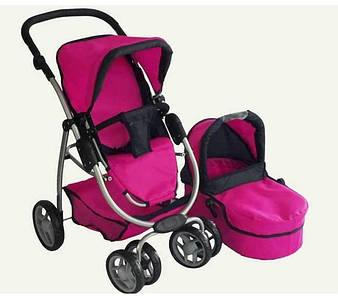 Детская коляска-трансформер для кукол 9662 (2 цвета)