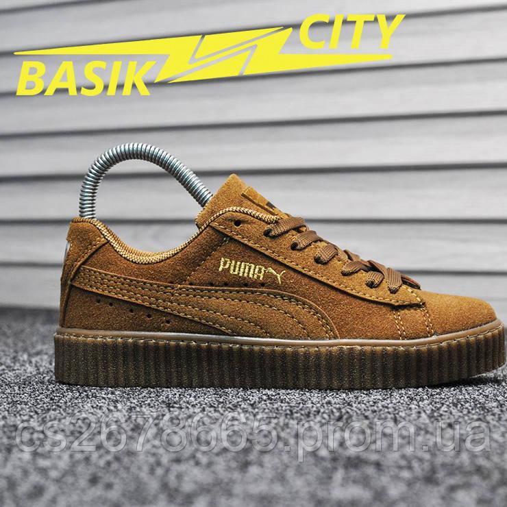 Женские кроссовки Puma Rihanna Creeper Brown