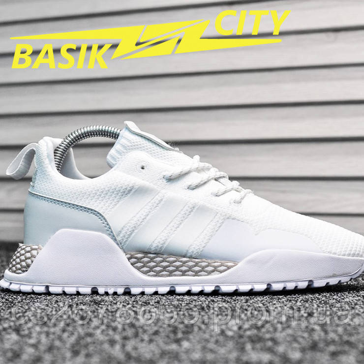 Мужские кроссовки Adidas Primeknit White