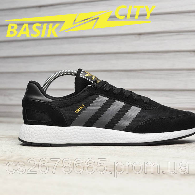 Мужские кроссовки Adidas Iniki Black Gray
