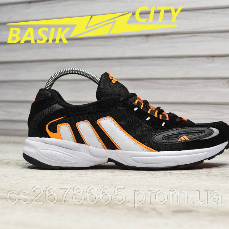 Мужские кроссовки Adidas Galaxy Black Orange