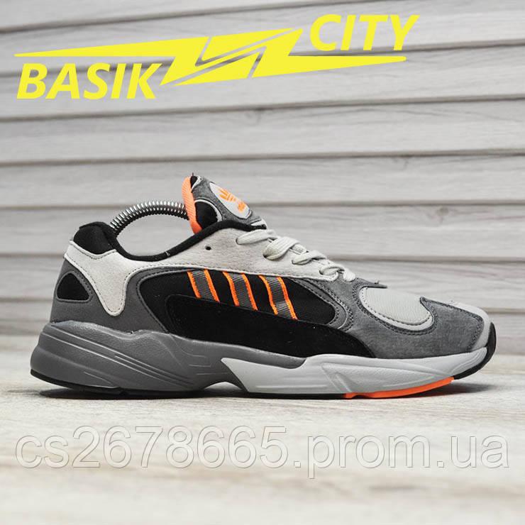 Мужские кроссовки Adidas Gray Black