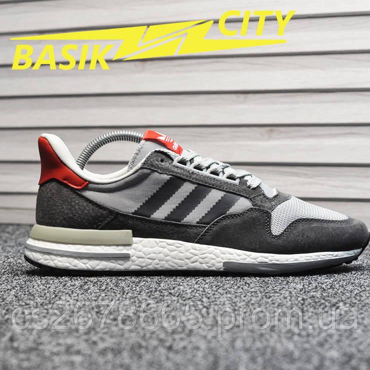 Мужские кроссовки Adidas ZX 500 Gray Red