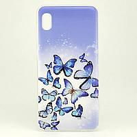 Чехол Print для Samsung Galaxy A10 2019 / A105F силиконовый бампер Butterflies Blue