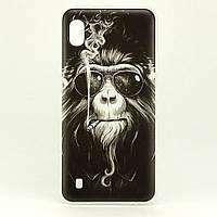 Чехол Print для Samsung Galaxy A10 2019 / A105F силиконовый бампер Monkey