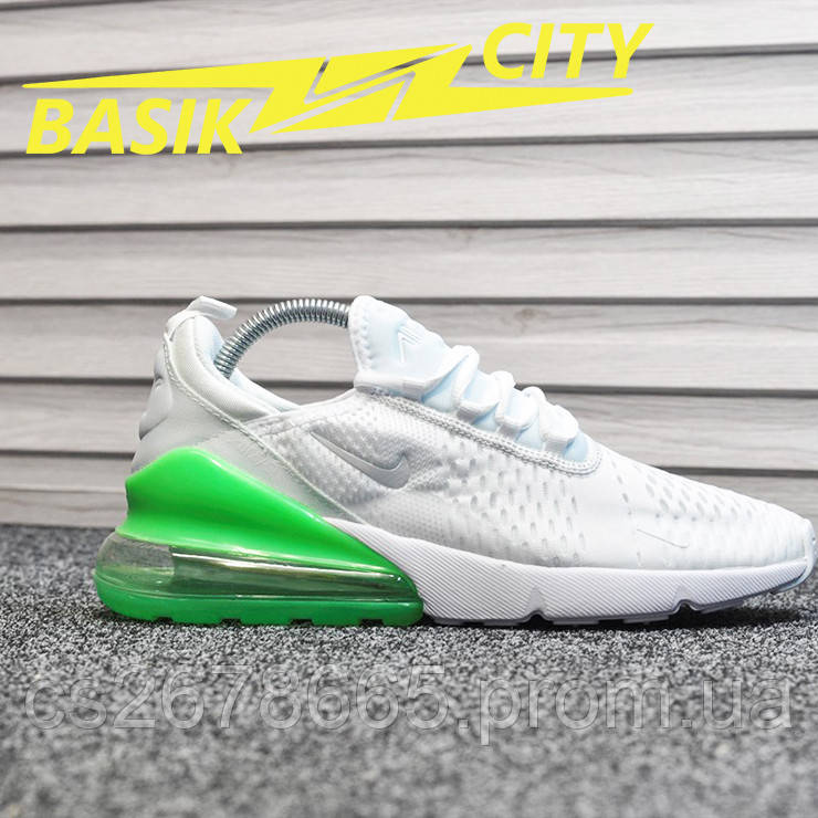 Мужские кроссовки Nike Air Max 270 White Green