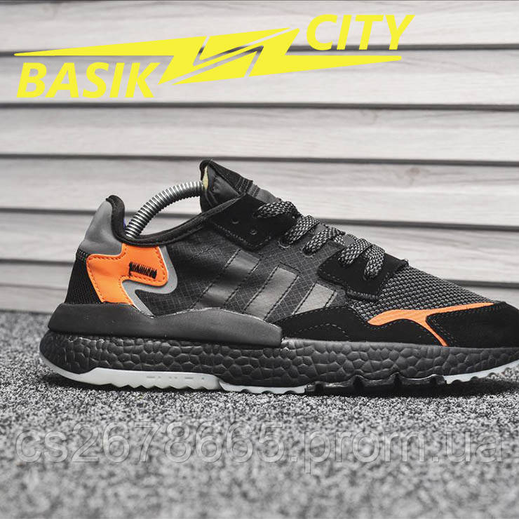 Мужские кроссовки Adidas Originals Nite Jogger Black Orange