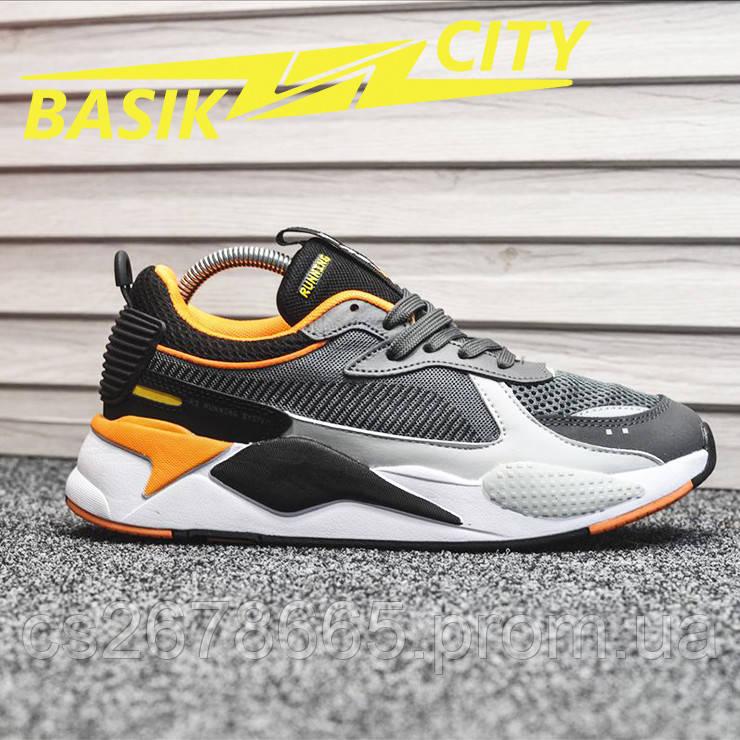 Мужские кроссовки Puma RS-X Gray Orange