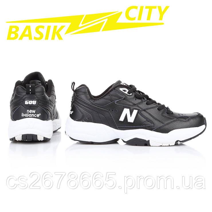 Кроссовки мужские New Balance 608 Черные кожа