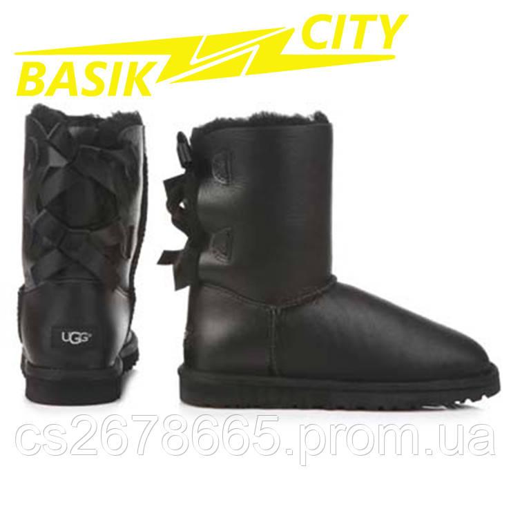 Женские угги UGG Australia W Bailey Bow 1002954 Metallic Black