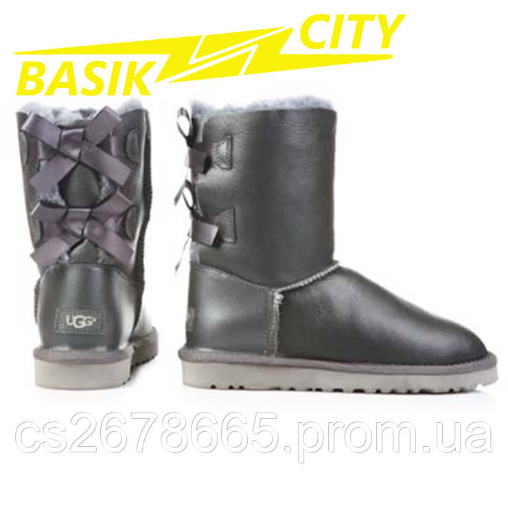 Женские угги UGG Australia W Bailey Bow 1002954 Metallic Gray