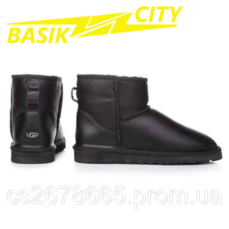 Мужские угги UGG Australia Classic Mini 5854 Metallic Black