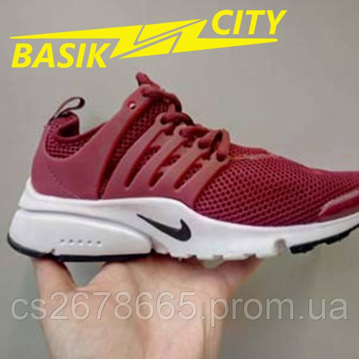 Кроссовки женские Nike Presto Бордовые