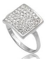Кольцо TN255.Серебро 925 с кристаллами Swarovski. Размер 18