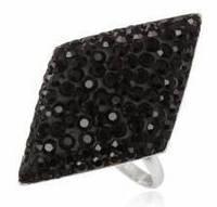 Кольцо TN622. Серебро 925. Swarovski crystals, размер 16