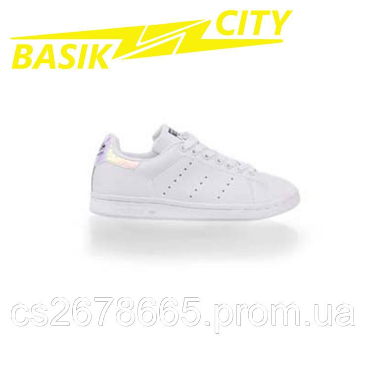 Кроссовки женские Adidas Stan Smith White Metallic Silver-SLD