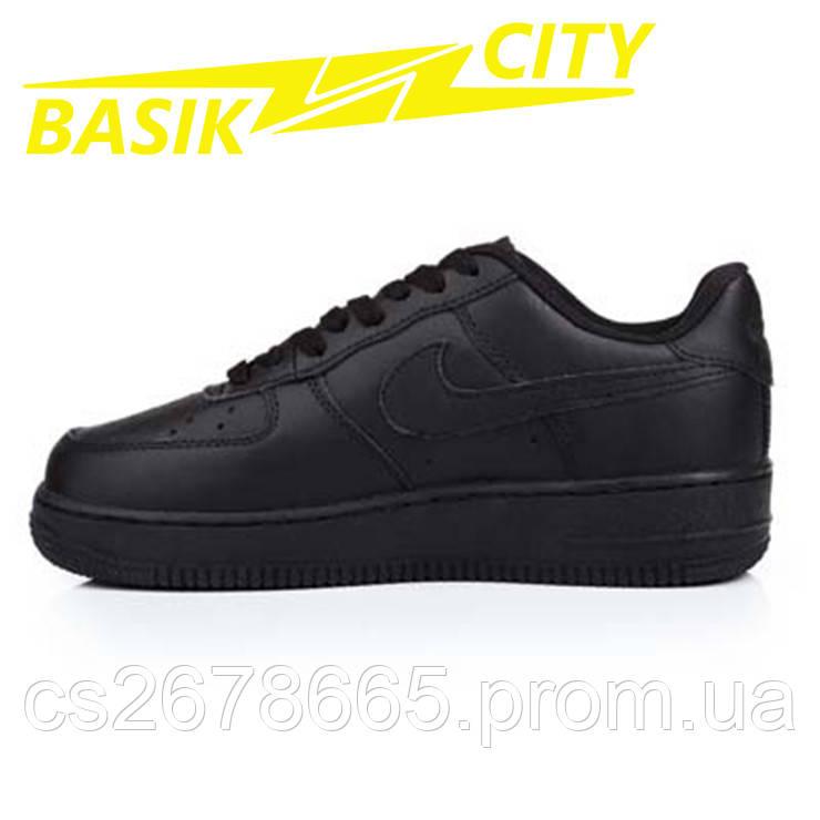 Кроссовки женские Nike Air Force Низкие Черные