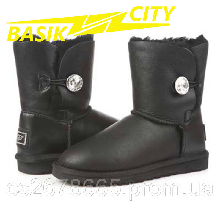 Женские угги UGG Australia Bailey I DO! Metallic Black 1002174 W