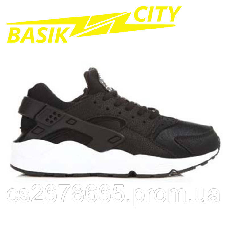 Кроссовки мужские Nike Air Huarache Черно-белые