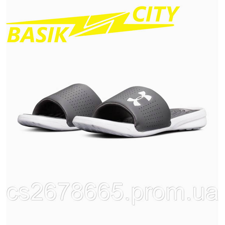 Шлепанцы Under Armour Playmaker Fixed Strap Slides 3000061-101