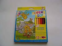 """Олівці кольорові MARCO 1650-12СВ """"Colorite"""" 12кол, трикутні Jambo з точилкою (1/)"""