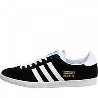 Кроссовки adidas Originals Gazelle OG Black/White/Met Gold - Оригинал