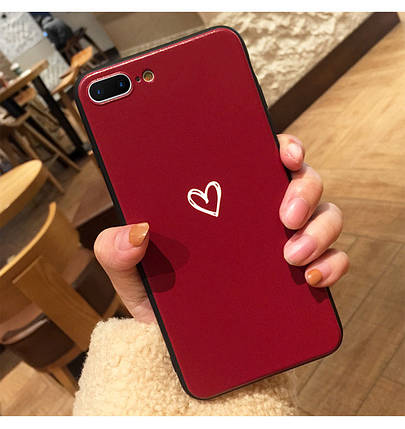 Чехол Case Cover Heart Love Red для Apple IPhone 5/5S/SE, фото 2