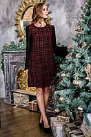 Платье женское красная клетка 2877