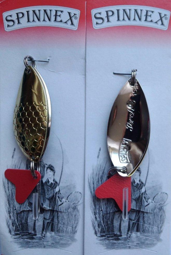 Блесна Spinnex Perch шумовая золото/серебро 15г