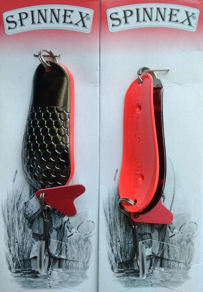Блесна Spinnex Pike шумовая черный никель/красная 22г