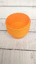 Формы бумажные для кексов усиленные с бортиком Оранжевые, 55*35 мм
