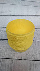 Формы бумажные для кексов усиленные с бортиком Желтые, 55*35 мм