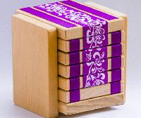 Деревянная головоломка JakTak - Як Так (фиолетовые цветы)