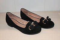 Туфли женские замшевые FOLETTI арт 05-8 черные,размеры 36,39,40