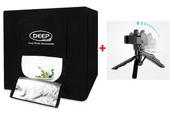 Фотобокс(лайтбокс) Deep Professional (DP-40) для предметной съемки 40x40x40см со штативом