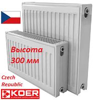 Стальной радиатор отопления 300 на 1500 тип 22 KOER боковое подключение