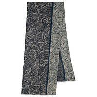 10789-1 кашне мужское, павлопосадский шарф (кашне) шерстяной (разреженная шерсть) с осыпкой