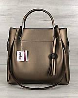 Молодежная сумка Рамона бронза, женская недорогая сумочка, сумочки женские 2019, модная женская сумочка