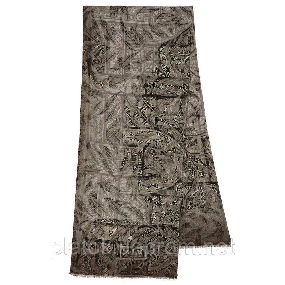 10788-2 кашне мужское, павлопосадский шарф (кашне) шерстяной (разреженная шерсть) с осыпкой