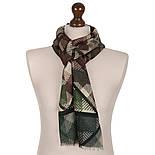10486-9 кашне мужское, павлопосадский шарф (кашне) шерстяной (разреженная шерсть) с осыпкой, фото 2