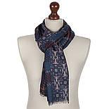 10483-14  кашне мужское, павлопосадский шарф (кашне) шерстяной (разреженная шерсть) с осыпкой, фото 2