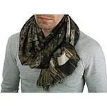 10375-17  кашне мужское, павлопосадский шарф (кашне) шерстяной (разреженная шерсть) с осыпкой, фото 2