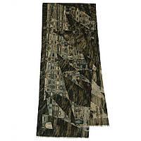 10375-17  кашне мужское, павлопосадский шарф (кашне) шерстяной (разреженная шерсть) с осыпкой, фото 1