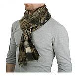 10375-17  кашне мужское, павлопосадский шарф (кашне) шерстяной (разреженная шерсть) с осыпкой, фото 3