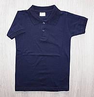 Поло для мальчика с коротким рукавом темно синий